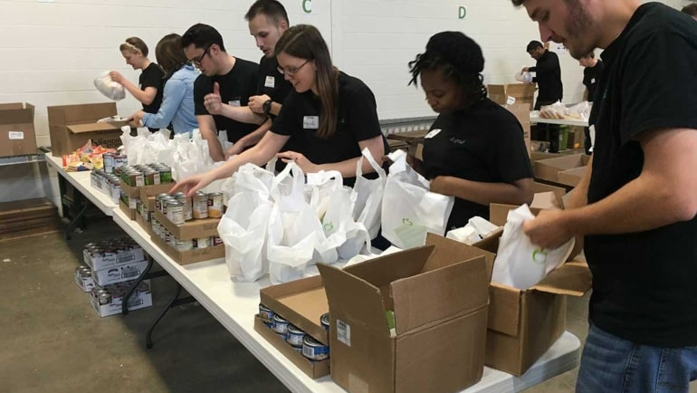 63,740 pounds of food to 665 hungry kids