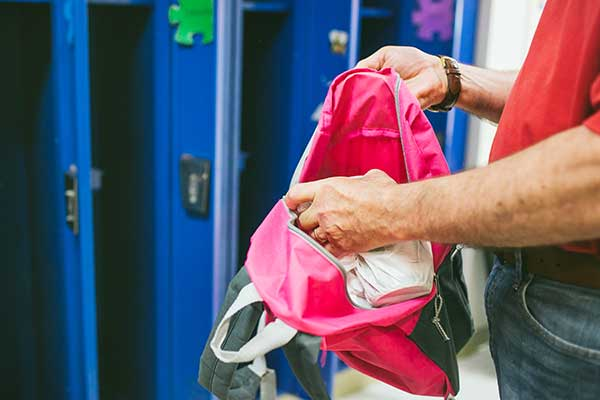 Weekend Food Program Bag in Backpack