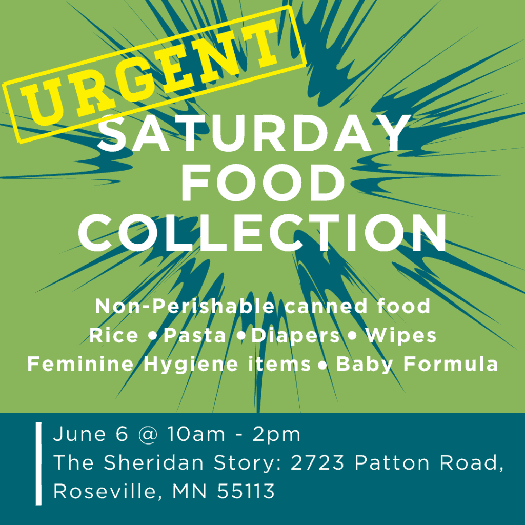 Urgent Saturday Food Collection on June 6 from 10am-2pm
